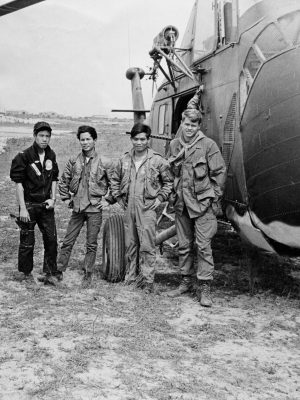 S. Vietnamese helicopter pilots, at SOG Quang Tri launch site.